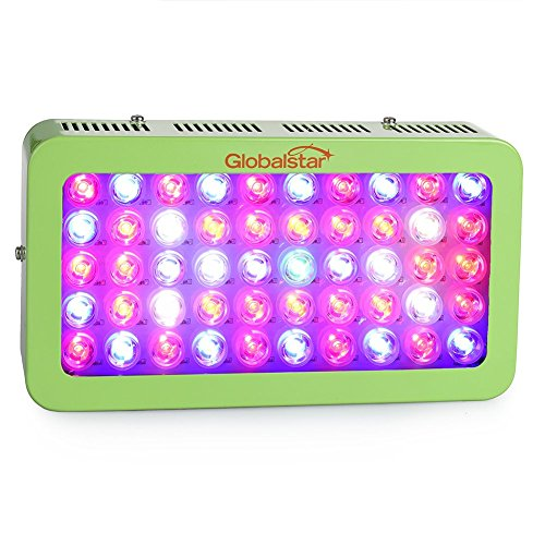 Global Star G(sg)50x6w Plus Horticulture Full Spectrum 300w Green LED Grow Light for Indoor Plant Growing,one Switch for Leaf,another for Flowering (Green)