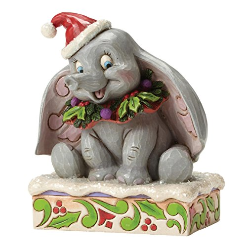 "(Disney Traditions by Jim Shore Christmas Dumbo Stone Resin Figurine, 5"")"