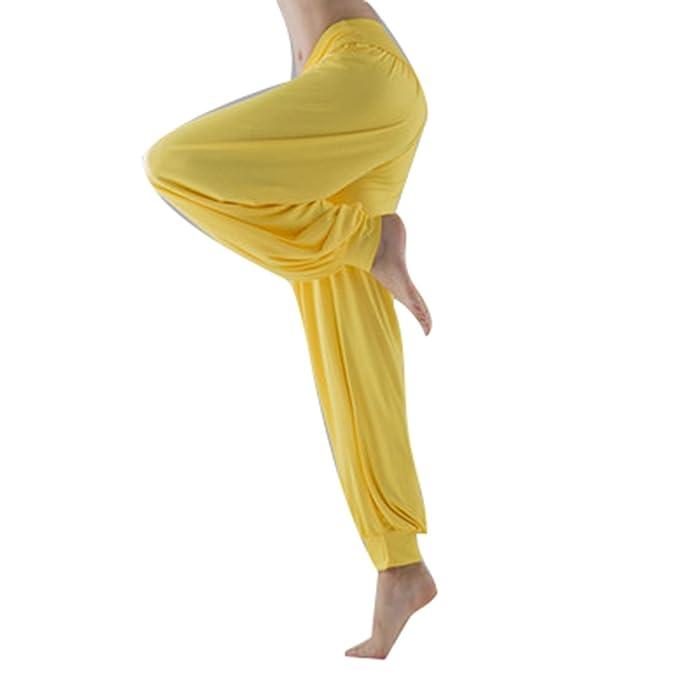 Mujer Pantalones Harén - Color Sólido Cintura Elástico Pantalón Moda Casual Slim Pantalones para Deportes Yoga