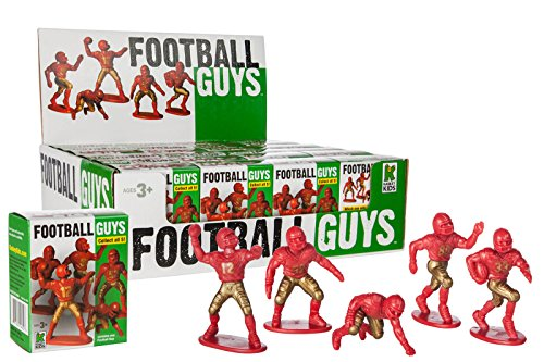 Kaskey Kids Football Guys Mystery Box Red/Gold Inspires Imagination with Open-Ended Play Includes 24Piece For Ages 3 & Up Action Figure by Kaskey Kids