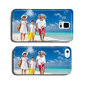 Family on a tropical beach vacation cell phone cover case iPhone6 Plus
