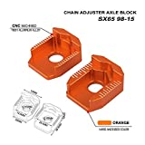 JFG RACING Rear Axle Block CNC Billet Chain Adjuster For KTM SX65 1998-2015 - Orange