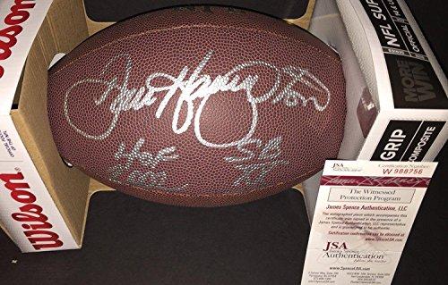 Dan Hampton Autographed Football - Witness COA 2 Inscrip - JSA Certified - Autographed Footballs