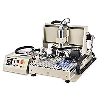 USB 4 Axis 1500W CNC 6040T Router Engraver Engraving Mill/Drilling Machine + RC