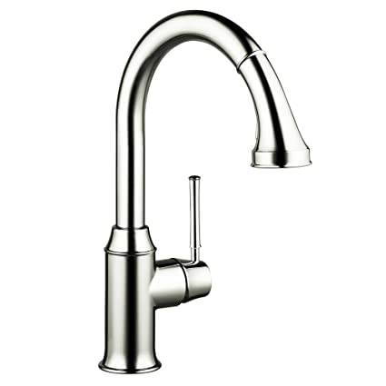 Hansgrohe Talis C HighArc SingleHole Kitchen Faucet With - Single hole kitchen faucet with pull out spray