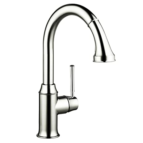 Hansgrohe 04215830 Talis C HighArc Single Hole Kitchen Faucet With Pull  Down 2 Spray