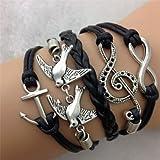 Wholesale-16pcs-Vintage-Multilayer-Multicolor-Woven-Leather-Alloy-Owl-Braided-Infinity-Bracelets