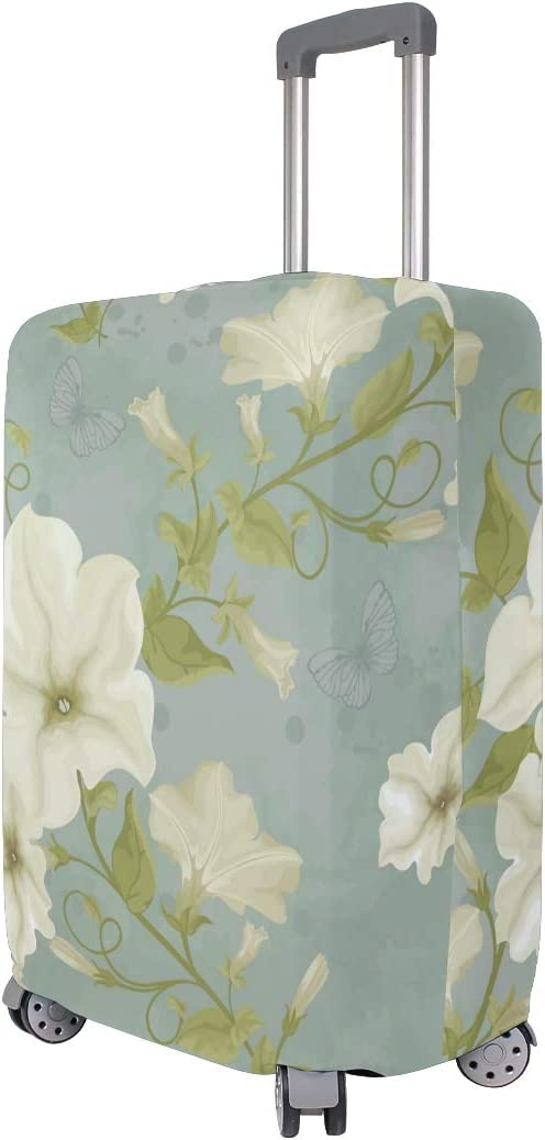 GIOVANIOR Morning Glory Flowers Luggage Cover Suitcase Protector Carry On Covers
