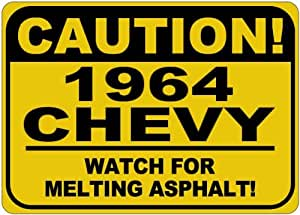 1964 64 CHEVY CORVAIR Melting Asphalt Sign - 10 x 14 Inches