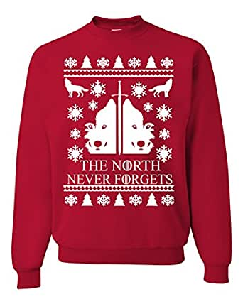 The North Never Forgets Ugly Christmas Sweater Unisex Sweatshirts RED (S)