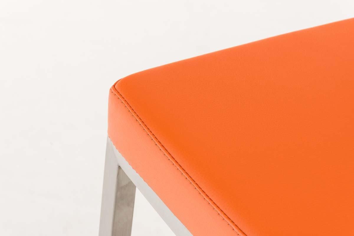 Sgabello Ottawa : Clp sgabello alto bar ottawa in acciaio inossidabile e similpelle