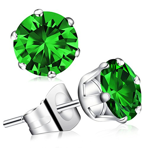 Jewels Zirconia Stainless Birthstone Earrings