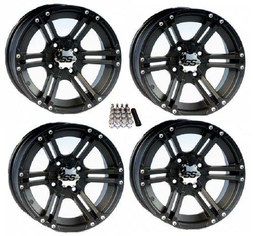 ITP SS212 ATV Wheels/Rims Black 12″ Kawasaki Teryx Mule (4)