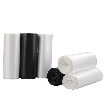 Nicesh pequeñas bolsas de basura 4 gallon, Negro, Claro Y ...