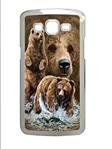 Find 10 Brown Bears PC Case Cover for Samsung Grand 2 and Samsung Grand 7106 Transparent by mcsharks