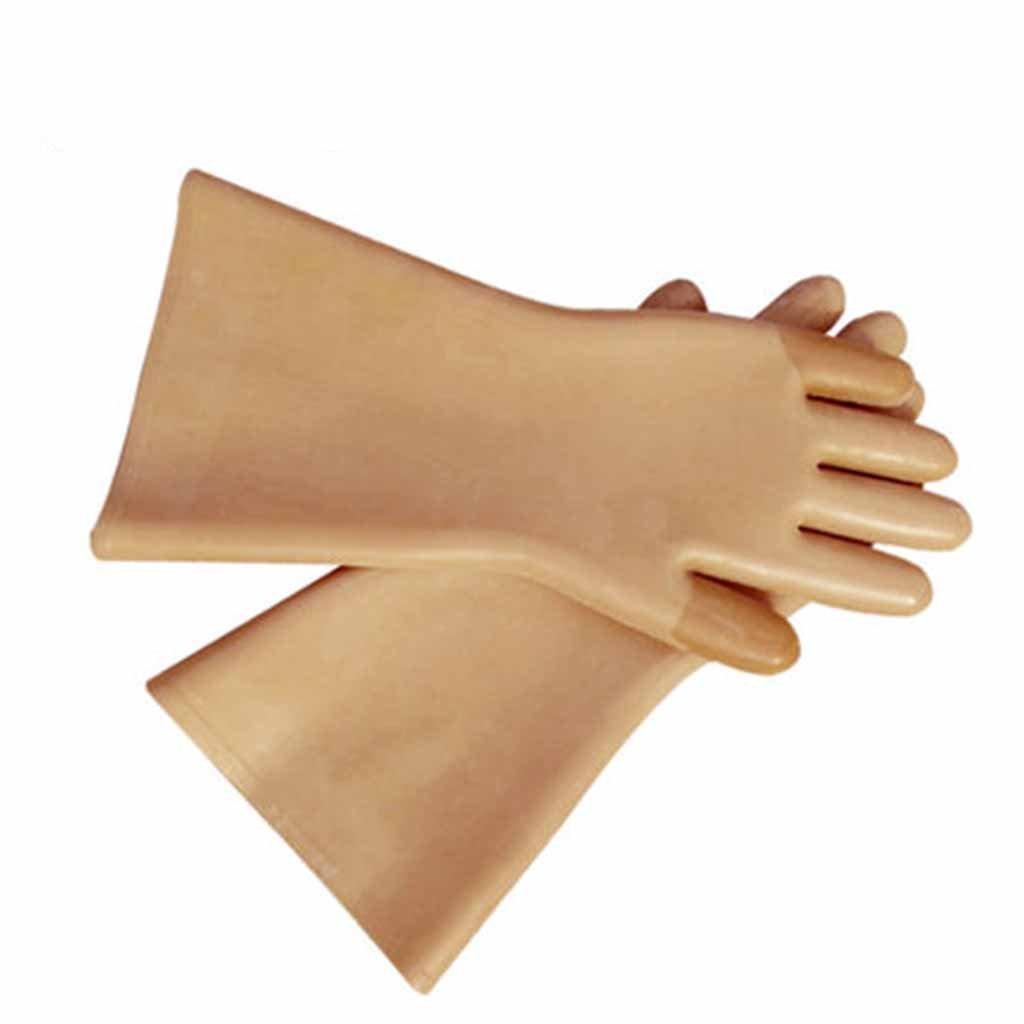 renshiminshop Electricians絶縁ゴム手袋電気ショック操作に対する保護保護Thickening労働保険手袋 1ペア B07FDYXJQV