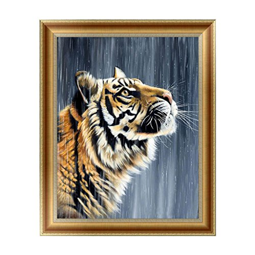 Full Diamond Rhinestone Tiger (Wivily Beautiful Tiger Full Drill 5D DIY Diamond Painting Rhinestone Pictures Of Crystals Embroidery Kits Arts, Crafts & Sewing Cross Stitch)