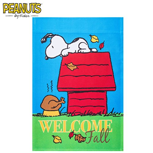 Welcome Fall Peanuts Garden Flag]()