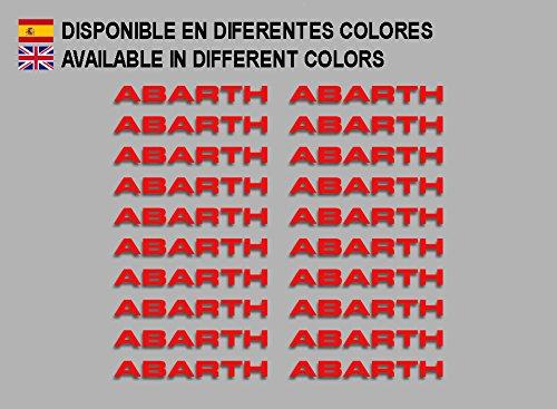 Red Ecoshirt G2-3JXJ-B1NF Abarth F197 Stickers Aufkleber Decals Adesivi Rally Racing