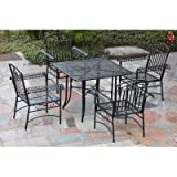 Iron Patio 5 Piece Dining Set