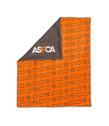 ASPCA AS650ORANGE Paw and Bone Reversible Pet Self Cooling Mat by ASPCA