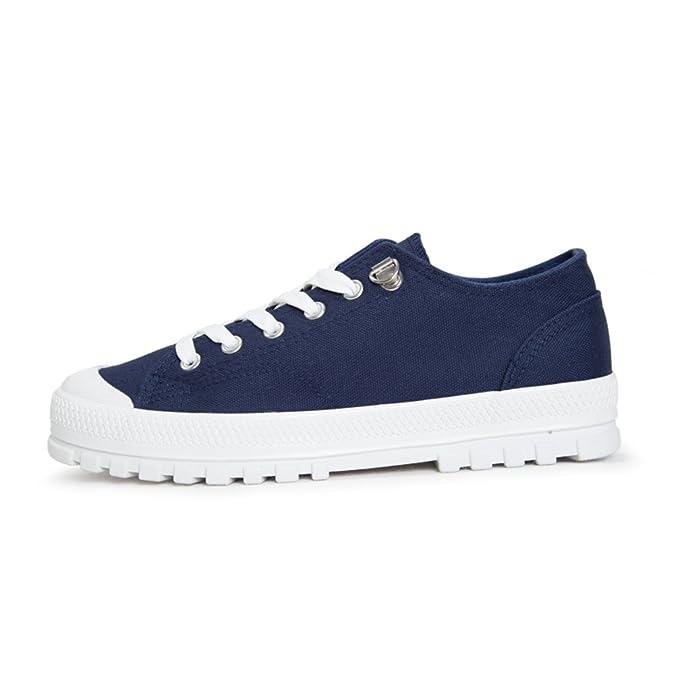 Casual Fashion dicken verschleißfesten Leinwand/ Schuh-Schnürung Schuhe/ die kleinen weißen Schuhen Studierenden-B Fußlänge=23.3CM(9.2Inch) 1x4sS8