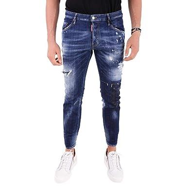 7714a560efbc9d Dsquared2 Dsquared Jeans Skater S71LB0490 Blue  Amazon.fr  Vêtements ...