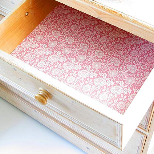 England Pink Rose - Master Herbalist William Morris Pink & White Rose Scented Drawer Liners England