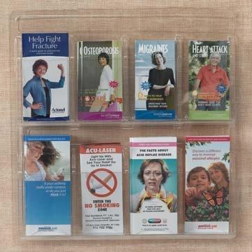 Clear-Vu Pocket Pamphlet Holders Number of Pockets: 24 Pockets