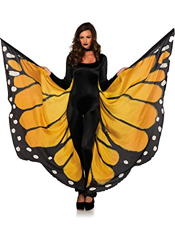 Leg Avenue Women's Festival Monarch Butterfly Cape, Orange/Bla O/S ()