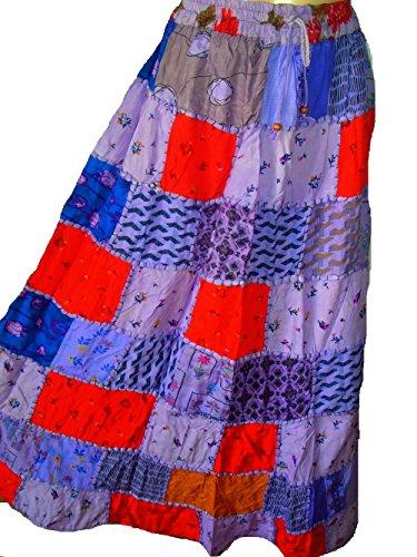 Falda Maxi hippie tribal de la falda del vientre del vientre Banjara NUEVO PATCHWORK P35