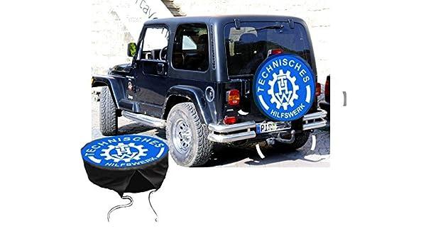 Designstudio Fritsche Funda para rueda de repuesto protectora THW para su Jeep: Amazon.es: Coche y moto