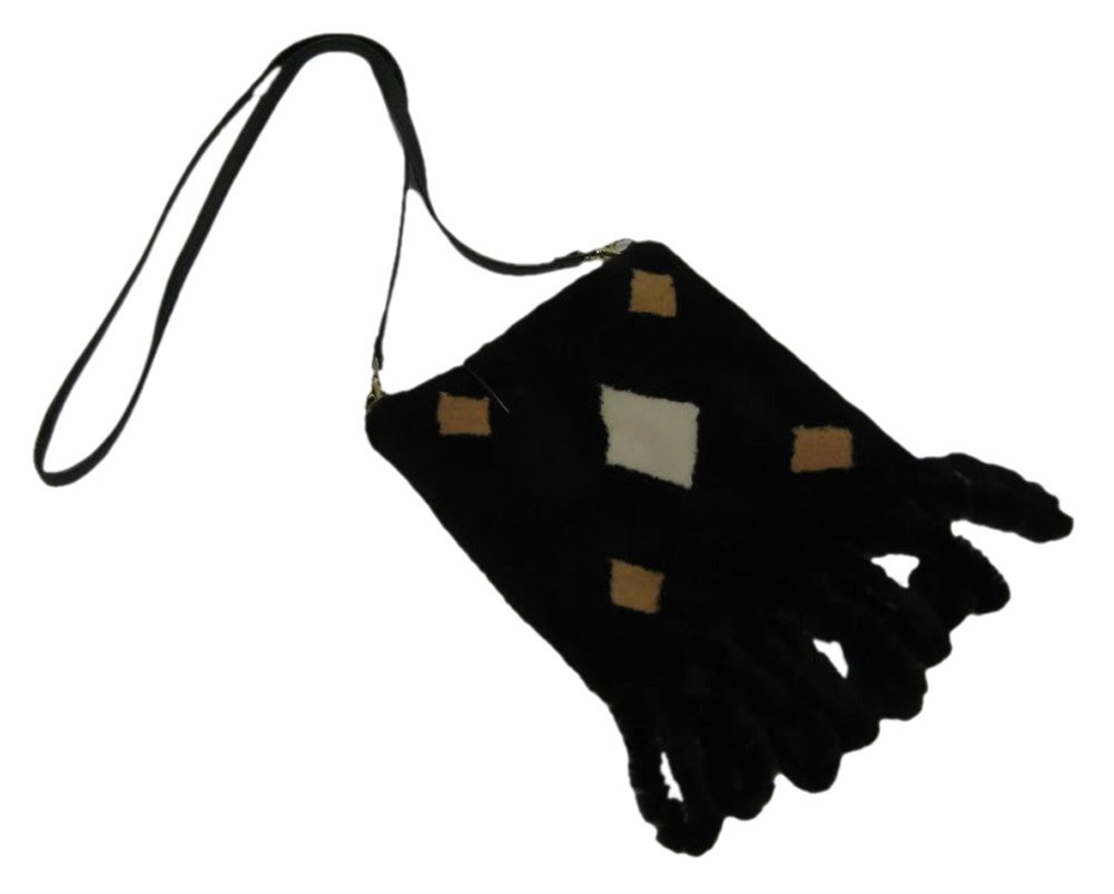51773 New Dark Brown Sheared Mink Fur Purse Hand Bag by Bergama