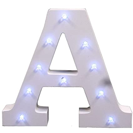 Outgeek Marquee Led Lighted Wooden Letter Night Light With Battery