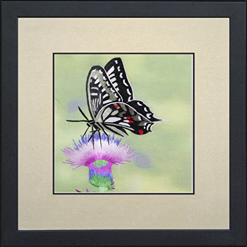 SilksArt 100% Handmade Silk Embroidery Art Click Butterfly Listing View More Wall Decoration Drawing Needlework Tapestry Picture Gallery Artwork Oil P…