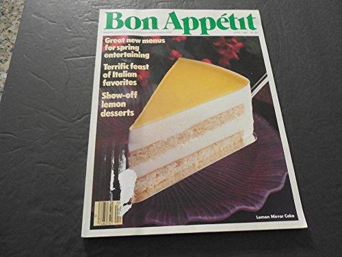 - Bon Appetit April 1984 Italian Favorites, Lemon Desserts
