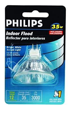 Philips 419325 Landscape Lighting and Indoor Flood 35-Watt MR16 12-Volt Light Bulb