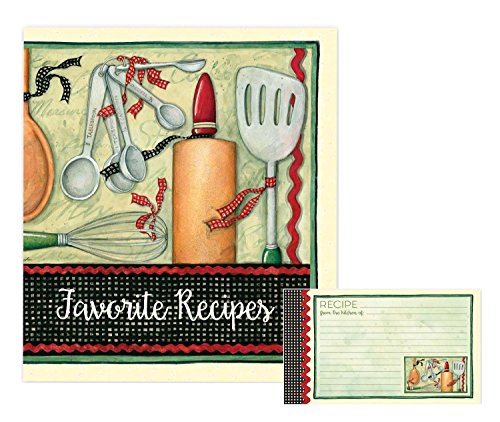 Cooking with Love Favorite Recipes Binder & Recipe Cards Set by Brownlow