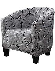 Surrui Club Chair Slipcover Stretch Print Pattern Tub Chair Cover Armchair Sofa Slipcover Soft Washable Anti-Dust Furniture Protector #13 One Size