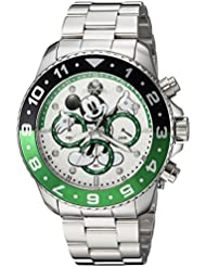 Invicta Mens Disney Limited Edition Quartz Stainless Steel Casual Watch, Color:Silver-Toned (Model: 24953)