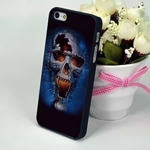 iphonecases funda con tapa para iPhone 5/5S diseño de calavera