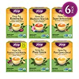 Yogi Tea - Green Tea Variety Pack Sampler - 6 Pack, 96 Tea Bags Total