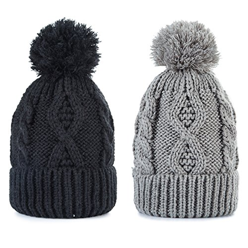REDESS Women Winter Pom Pom Beanie Hat with Warm Fleece Lined, Thick...