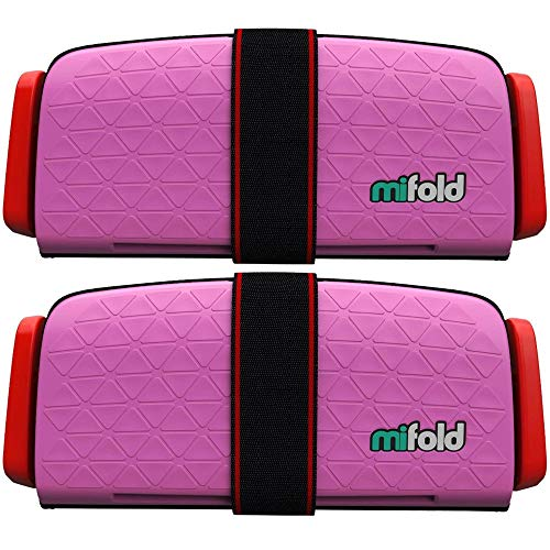 Mifold 2-Pack MF01-US/PNK Grab-and-Go Car Booster Seat – Perfect Pink