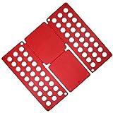 Clothes Laundry Folder Flip Speed Magic Shirts Folding Board GH8323 Red