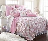 Kama Full/Queen Cotton Quilt Set, Pink