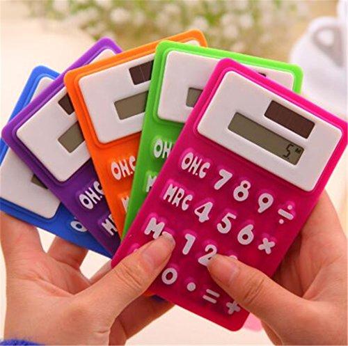 3Pcs fashional regalo plegable de 8dígitos Mini Calculadora Calculadoras Teclado Suave para oficina uso solar power...