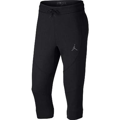 b283cb54395 Jordan Pants - Sportswear Wings 3/4 Fleece Black/Charcoal Size: M (Medium):  Amazon.co.uk: Clothing