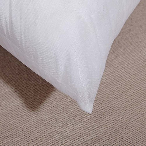 1 Pack 16 L x 16 W Yoodelife Square Sham Stuffer Hypo-Allergenic Poly Pillow Form Insert White