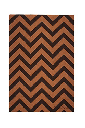 Tribe West Baby Playmat. Large Non-Toxic Easy Clean Activity Floor Mat Crawling Babies, Toddlers, Boy Girl,100% Natural Cork Rubber, Durable, Each Sale Supports Global Artisans (Chevron)